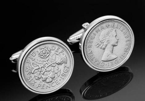 Запонки из монет «Сокровища мира»