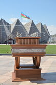 "The world's only electromechanical chess ""Marches on Bosporan"" at the 42nd World Chess Olympiad in Baku."