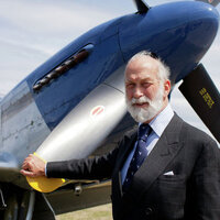 Michael of Kent at his favorite Mustang of the famous Air Squadron.