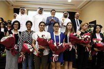 FIDE President, UAE representatives and the participants of the final leg of the Grand Prix Series