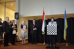 Welcoming word of Beatriz Marinello during the opening ceremony of the Chess for Dialogue tournament.