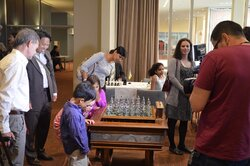 "Presentation of ""Marches on Bosporan"" chess set."