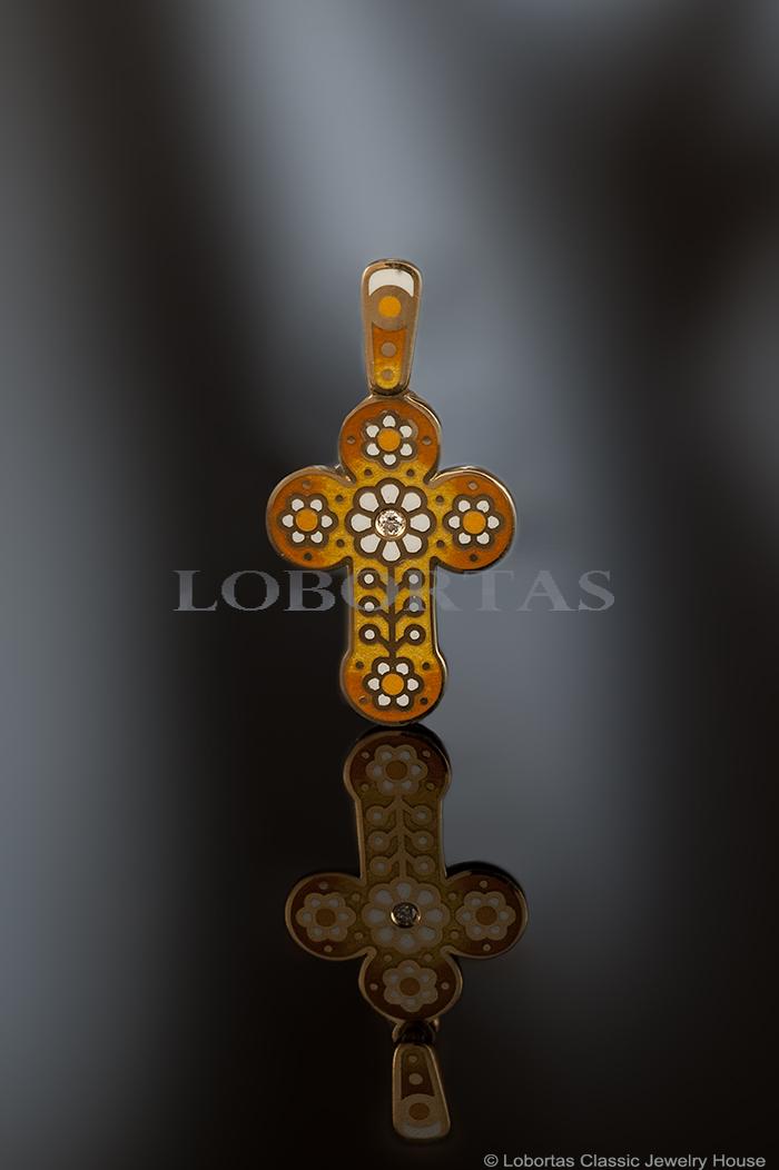Крест нательный «Цветочки»
