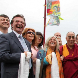 Switzerland. Dalai Lama at Tibetan Temple Grand Opening