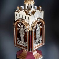 """Unquenchable"" vigil lamp is a special church vessel of the XXI century for transportation and storing of the Holy Fire at any weather conditions."