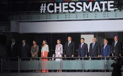 The official opening ceremony of the 42nd World Chess Olympiad in Baku.