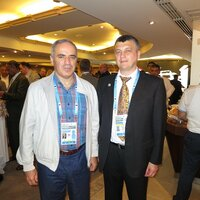 Garry Kasparov and Igor Lobortas.