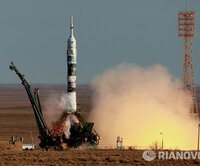 The launch of the Soyuz TMA--11M spacecraft