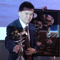 Krisan Ilyumzhinov, the President of FIDE.