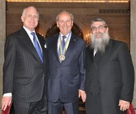 Ronald Lauder, Yaakov Dov Bleich, James Temerty