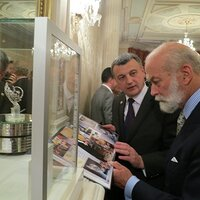 Presentation of photo album about the Tsarevna Swan ring to Prince Michael of Kent