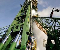 Launching slipway of the Soyuz rocket