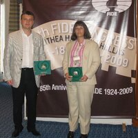 Igor Lobortas and Rus Haring, the vice-president of the US Chess Federation