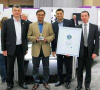 (left to right): Igor Lobortas, Nihar Parikh ( Shrenuj, Executive Director), Parag Desai (Shrenuj, USA), George Sheynker.