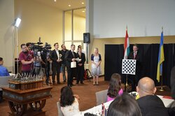 Yuri Sergeev's welcoming speech during the opening ceremony of the Chess for Dialogue tournament.