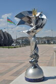 "The women's Chess Oscar ""Caissa"" at the 42nd World Chess Olympiad in Baku."