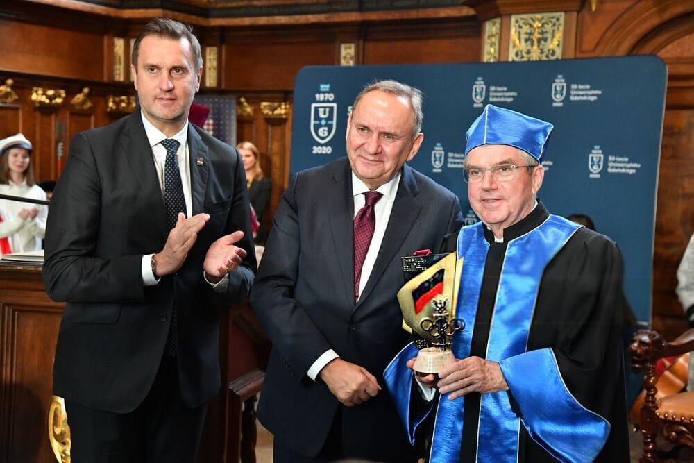 100- летие Олимпийского комитета Польши. Президент МОК Томас Бах стал Почетным доктором Гданьского у