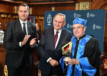 The 100th Anniversary of the Polish Olympic Committee. The IOC President Thomas Bach became Honorary Doctor of the University of Gdansk